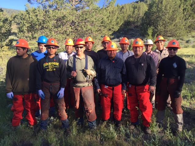 Lomakatsi partners with regional tribes for restoration project on Fort Bidwell Reservation. Project brought together members of three tribes, the Fort Bidwell Northern Paiute, Pit River Tribe, and Klamath Tribes of Oregon. Tribal Members worked together to restore 50 acres of sage-steppe grassland habitat.