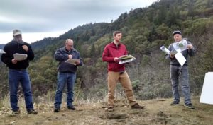Lomakatsi's Lead Forester Andy Lerch presenting the restoration prescriptions to The AFR technical review team.