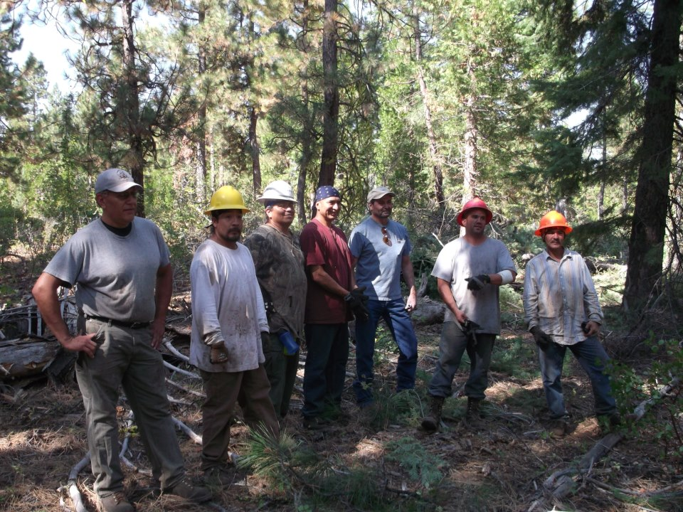 Klamath Tribes' ecological restoration crew, 9-28-12