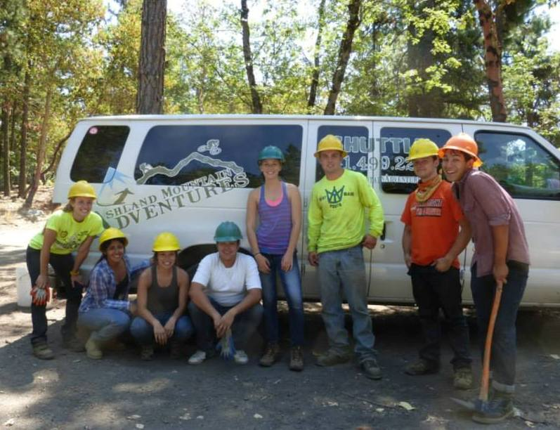 Trail work, 3, cropped, in AFR by Ashland Watershed Youth Training and Employment Program, 7-25-13