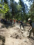 Trail work within the AFR Project by Lomakatsi's Ashland Watershed Youth Training and Employment Program, 8-1-13