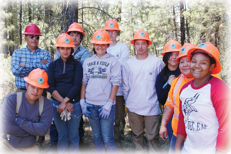 As part of the Fremont-Winema Forest Restoration Stewardship Project, the Klamath Tribal Youth Training and Employment Program utilized the forested landscape as an outdoor laboratory. Collaborative partners of the project include the Klamath Tribes, Lomakatsi Restoration Project, The Nature Conservancy and the US Forest Service.